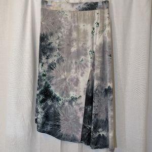 One World Grey Tie Dye Skirt Sz L